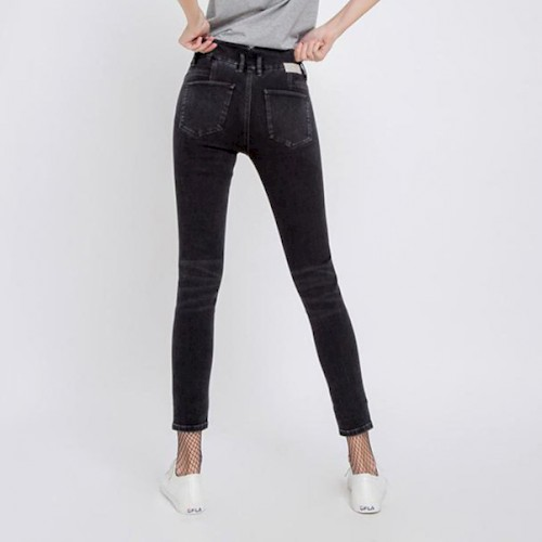 Jeans high sun up skinny ankle black hinten